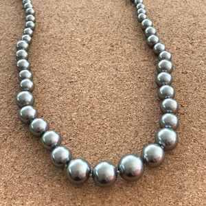 Carolee Graduated Simulated Gray Pearls